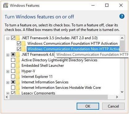 Cài đặt Net framework bước 3