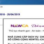 Chứng thư số NewCA